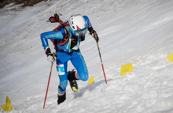 Davide Magnini nella gara individual di Coppa del Mondo