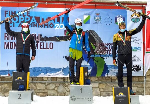 Il podio senior tutto Trentino: 1° Magnini, 2° Nicolini, 3° Facchini