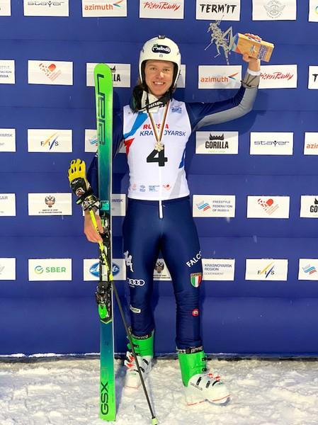 Simone Deromedis sul podio dei Mondiali Junior