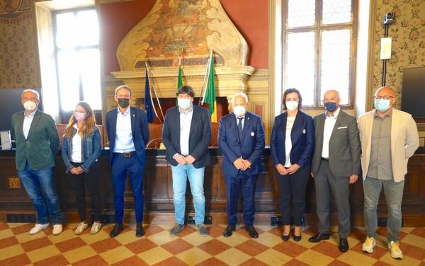 I protagonisti della conferenza stampa di Rovereto