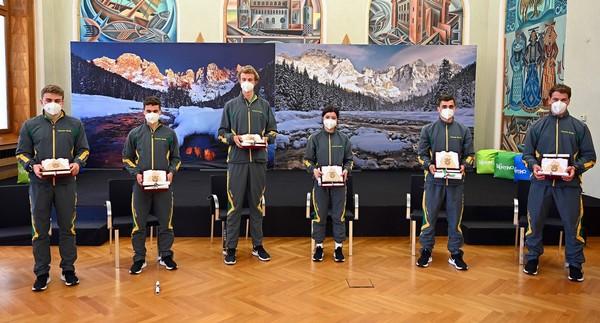 I giovani delle Fiamme Gialle premiati in Provincia a Trento