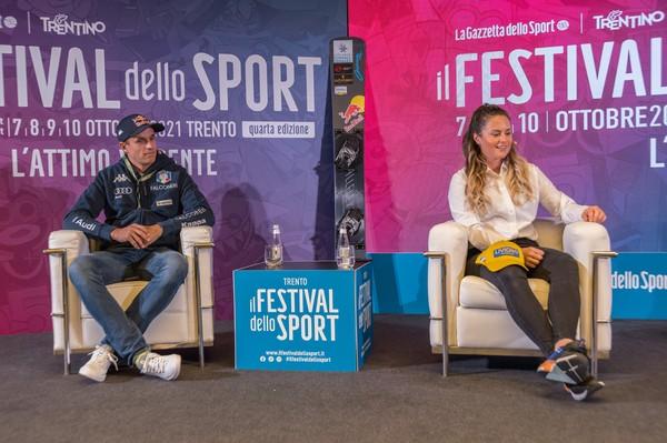 Roland Fischnaller e Michela Moioli (foto Ufficio Stampa Provincia Trento)