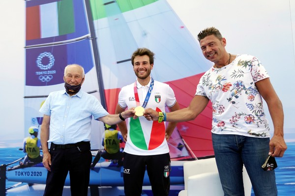 Ruggero Tita con i vincitori di ori olimpici Franco Nones e Cristian Zorzi