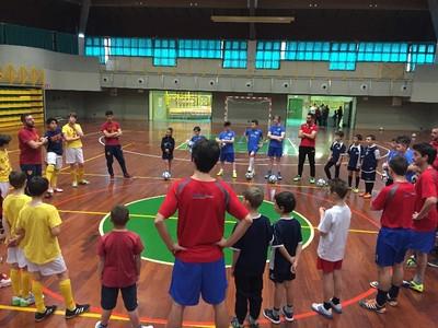 Un momento dell'Open Day di futsal di domenica scorsa a Cavalese