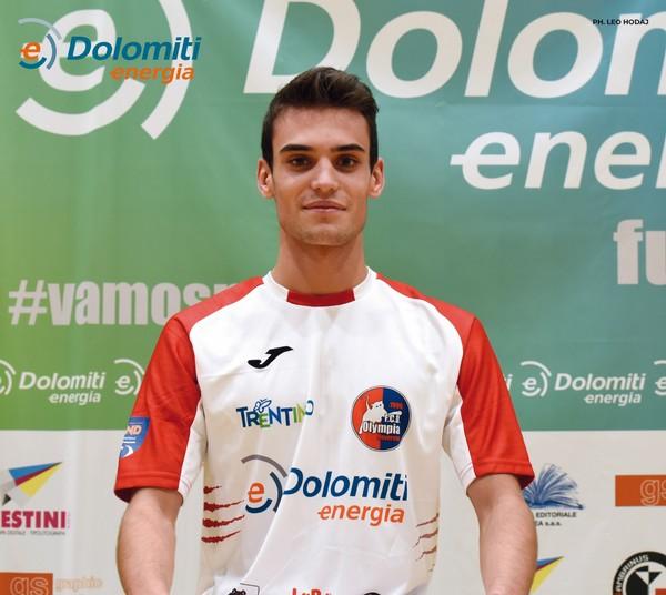 Gabriel Tonini, uno dei giovani della Dolomiti Energia
