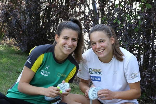 Le velociste Lisa Bona e Cecilia Scarpiello (foto Franchini)
