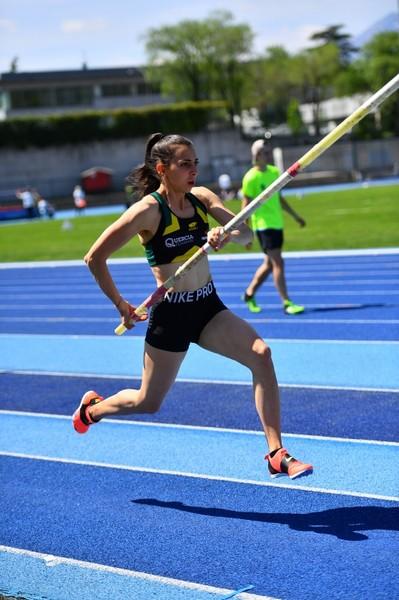 Marta Ronconi sale fino a 3,95 nell'asta (foto M. Volcan)