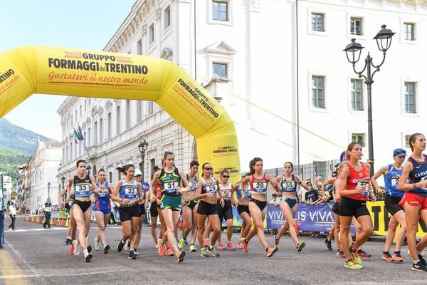 La Partenza della prova femminile dei 10km di marcia (foto Foto di FIDAL GRANA/FIDAL)