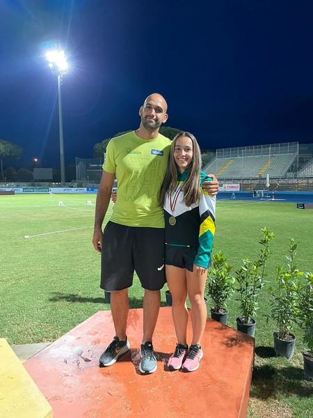 Arianna Peroni con il tecnico Luca Giordani