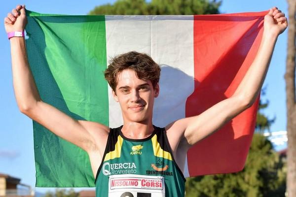 Simone Valduga, campione italiano Allievi sui 2000 siepi
