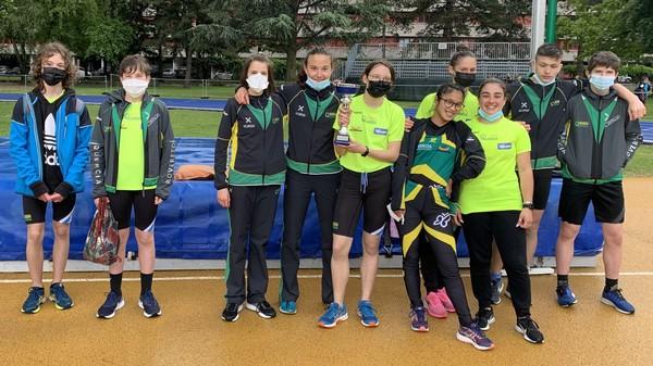 Alcuni dei giovani atleti protagonisti a Trento (foto C. Camini)